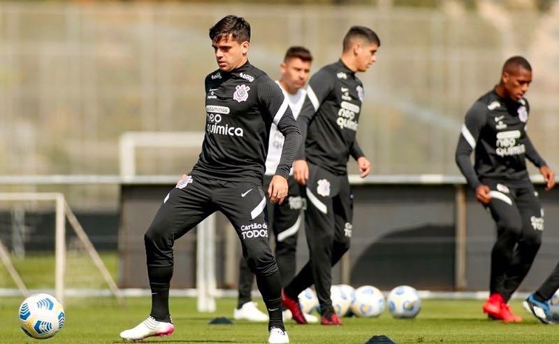 Corinthians treina para o jogo contra o Cuiabá no Brasileirão 2021