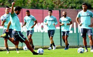 Treino do Fluminense para o jogo contra o Sport no Brasileirão 2021