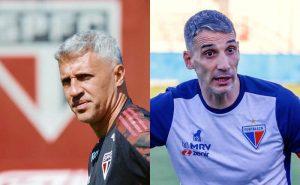 Os técnicos Crespo (São Paulo) e Vojvoda (Fortaleza) duelam na Copa do Brasil 2021
