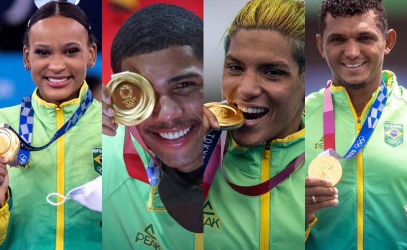 Medalhistas de ouro entre os destaques do Brasil nas Olimpíadas de Tóquio