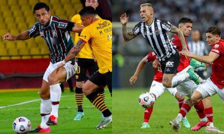 Fred, do Fluminense, e Vargas, do Atlético-MG, na Libertadores 2021