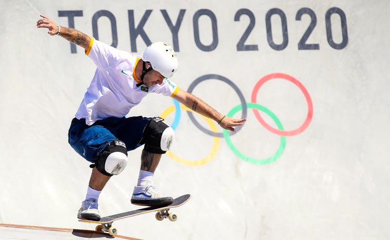 O brasileiro Pedro Barros conquistou a prata no skate park nas Olimpíadas de Tóquio