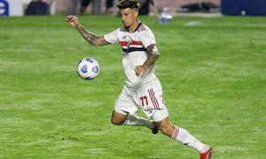 O atacante Rigoni, destaque do São Paulo no Brasileirão 2021