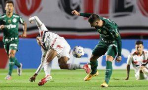 Lance do jogo São Paulo x Palmeiras, no Morumbi, no primeiro turno do Brasileirão 2021