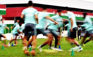 Treino do Fluminense para o jogo contra o Cuiabá pelo Brasileirão 2021