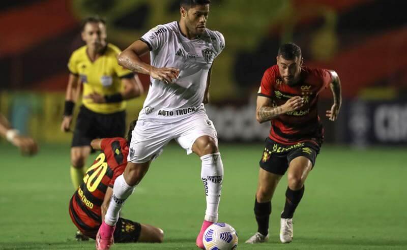 Hulk, do Atlético-MG, em jogo contra o Sport, no primeiro turno do Brasileirão 2021