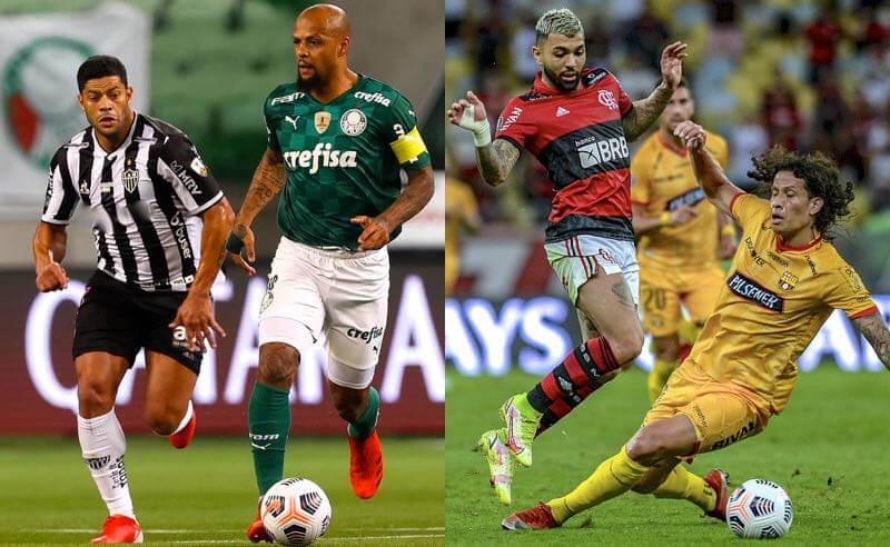 Palmeiras x Atlético-MG e Flamengo x Barcelona nas semifinais da Libertadores 2021