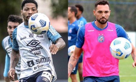 Brasileirão 2021: os atacantes Marinho, do Santos, e Gilberto, do Bahia