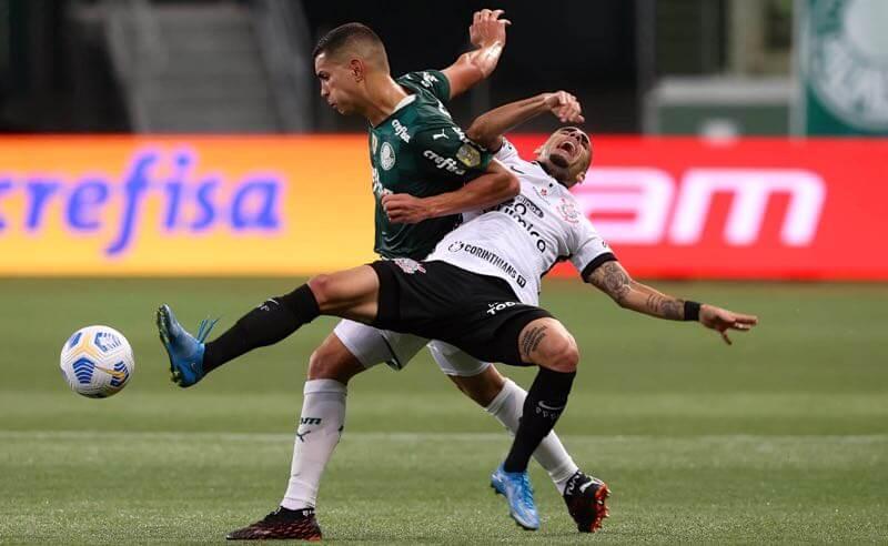 Palmeiras x Corinthians no primeiro turno do Brasileirão 2021