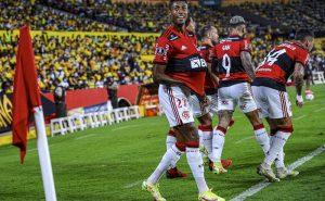 Flamengo comemora a classificação para a final da Libertadores 2021
