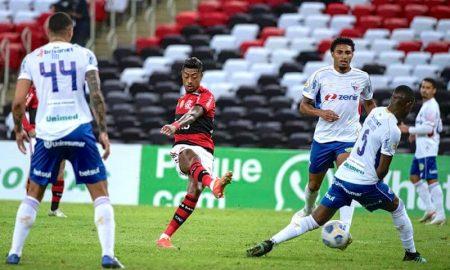 Flamengo x Fortaleza no primeiro turno do Brasileirão 2021
