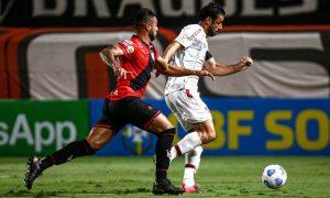 O atacante Fred em Atlético-GO x Fluminense no Brasileirão 2021