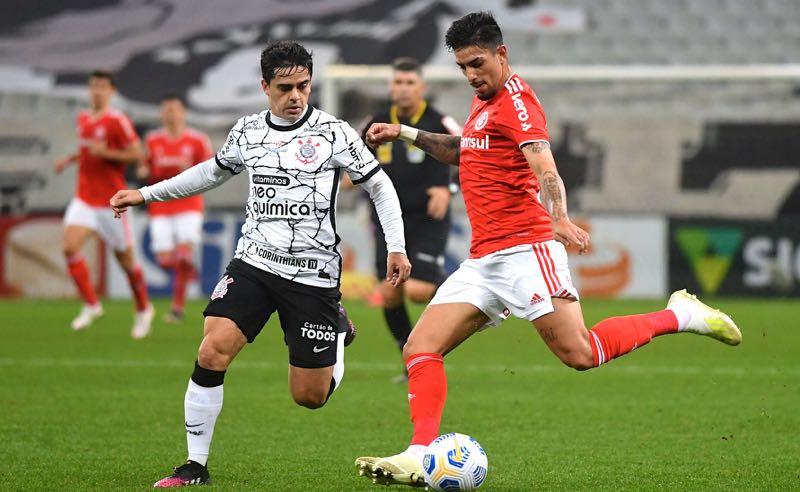 Corinthians x Internacional no primeiro turno do Brasileirão 2021