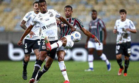 Fluminense x Santos no primeiro turno do Brasileirão 2021