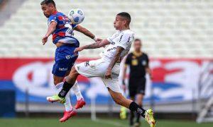 Fortaleza x Atlético-MG no Brasileirão 2021; as equipes agora se encontram na Copa do Brasil