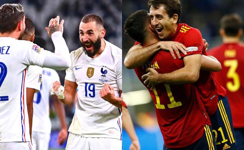 França e Espanha se classificaram para a final da Liga das Nações 2021