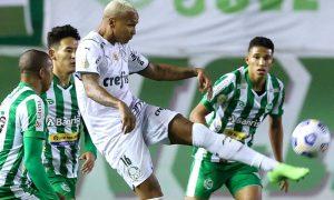 Juventude x Palmeiras no primeiro turno do Brasileirão 2021, em Caxias do Sul
