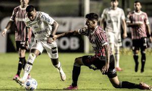 Lance de Santos x São Paulo, na Vila Belmiro, no Brasileirão 2021